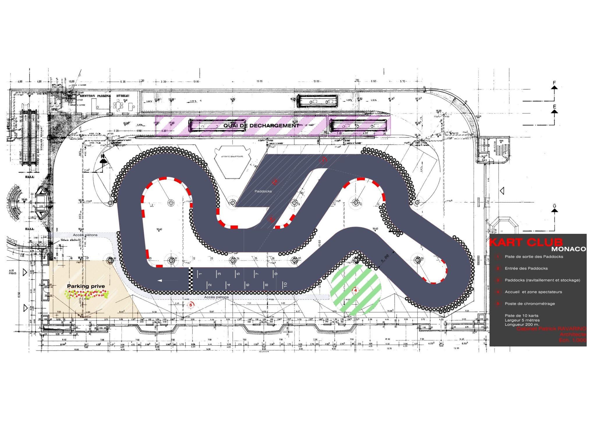 Le tracé de kart indoor monaco implanté sur 3000m2 au parking des pêcheurs