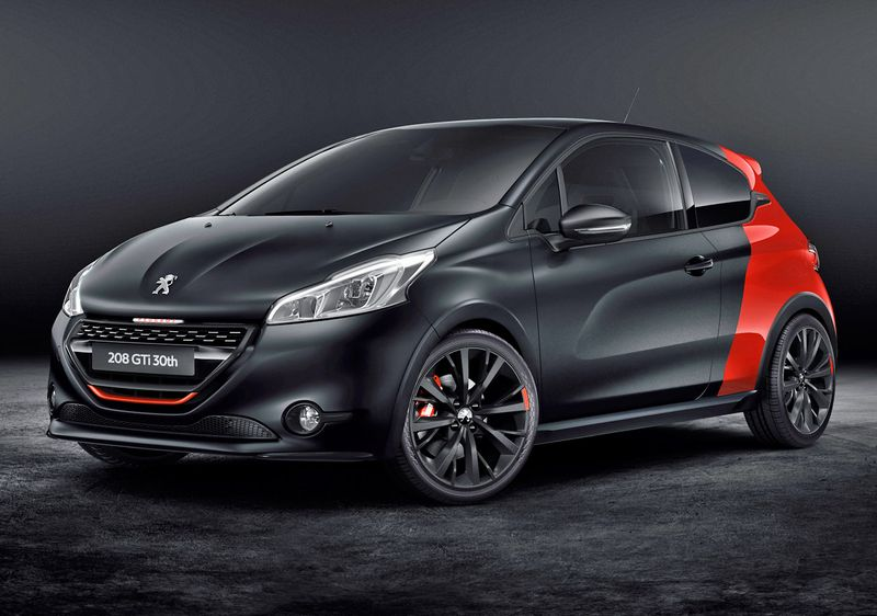 la nouvelle peugeot 208 gti 30 me anniversaire en images. Black Bedroom Furniture Sets. Home Design Ideas