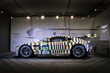 Aston Martin Vantage GTE «Art Car» : peinture mancelle