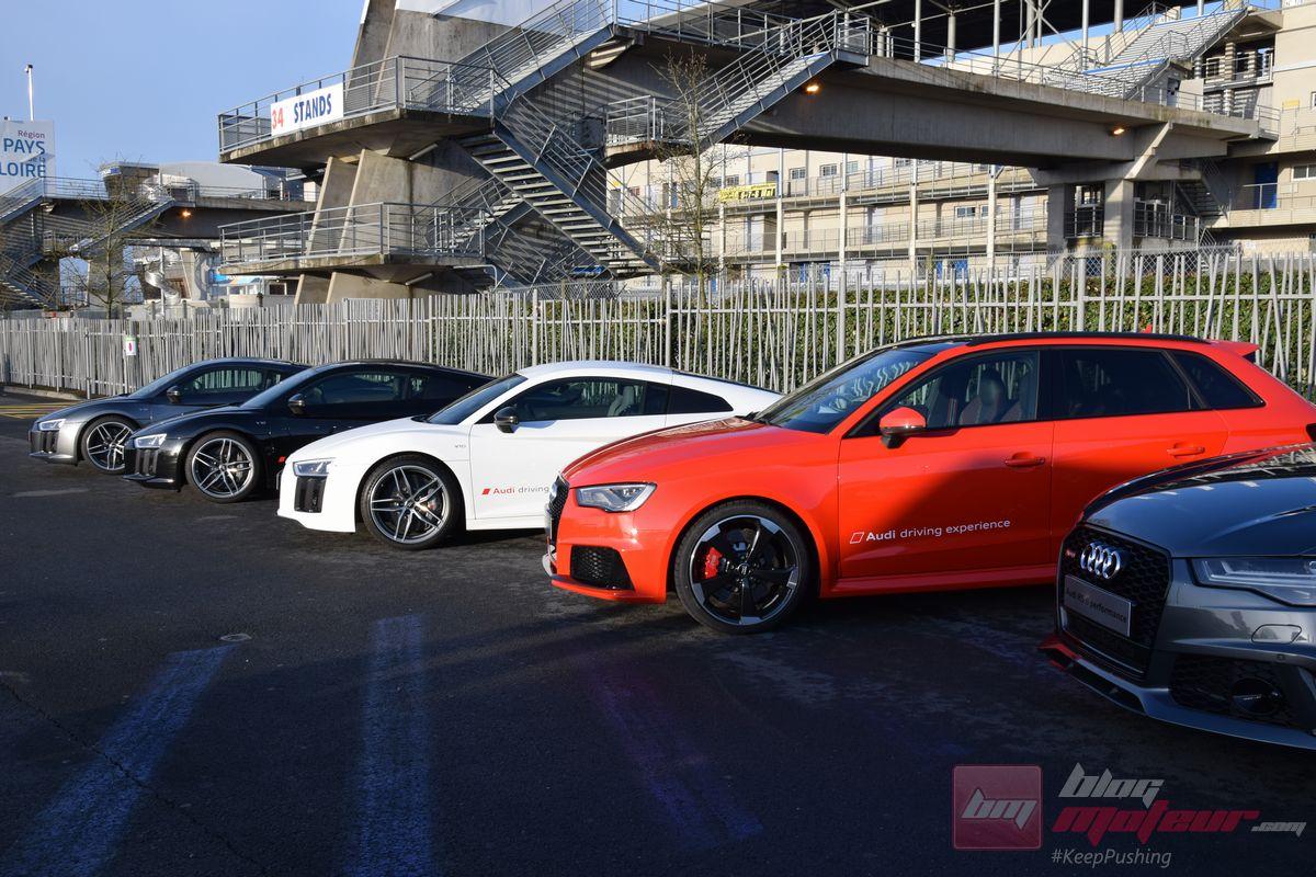 Audi Driving Experience au Mans : les R8 et RS à la fête