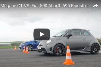 Video : l'Abarth 695 Biposto défiée par  la Megane GT