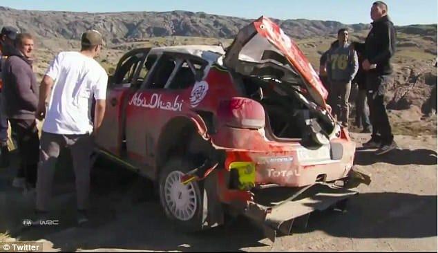 Kris Meeke Crash Stop