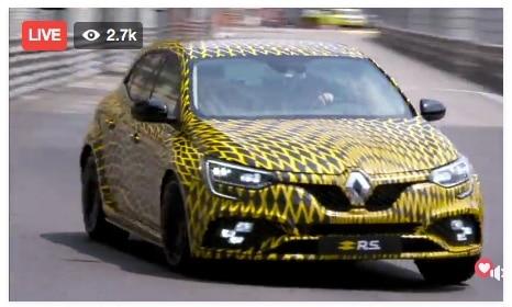 Renault fait rouler officiellement la Mégane RS