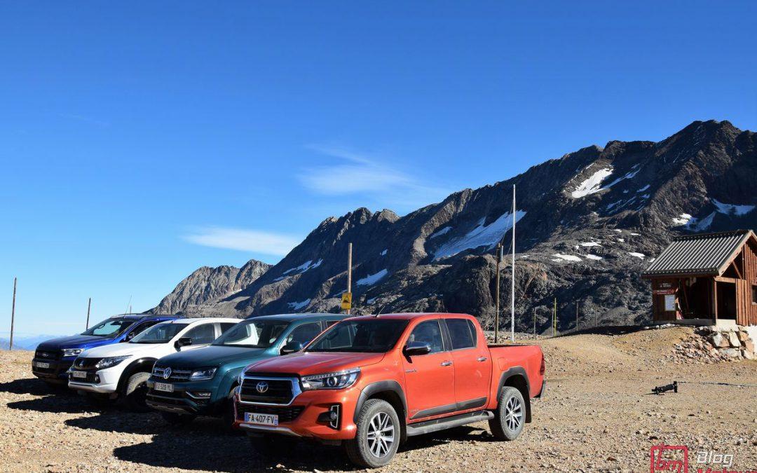 Essai comparatif : Les pick-up Ranger, Amarok, L200 et Hilux s'affrontent à l'Alpe d'Huez !