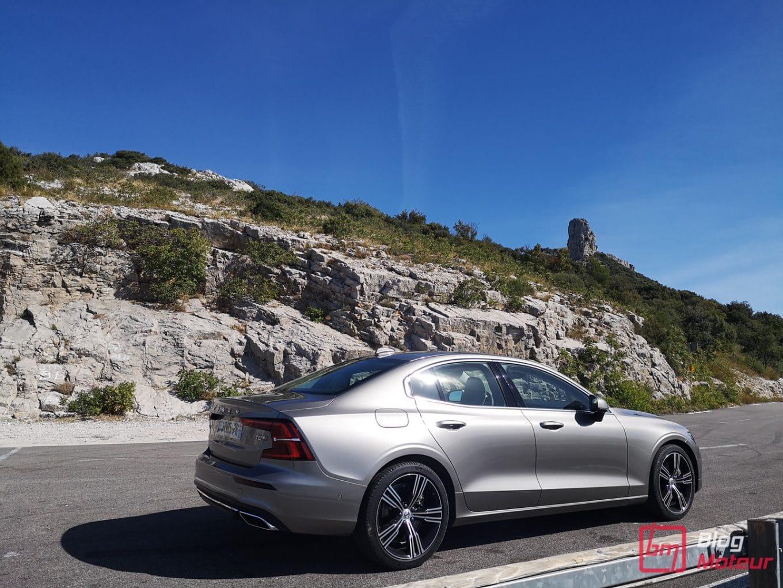 Essai Volvo S60 - Hybride rechargeable - vue côtés au sommet Col de l'Espigoulier