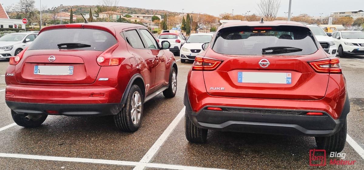 Nissan Juke avant et après arrière