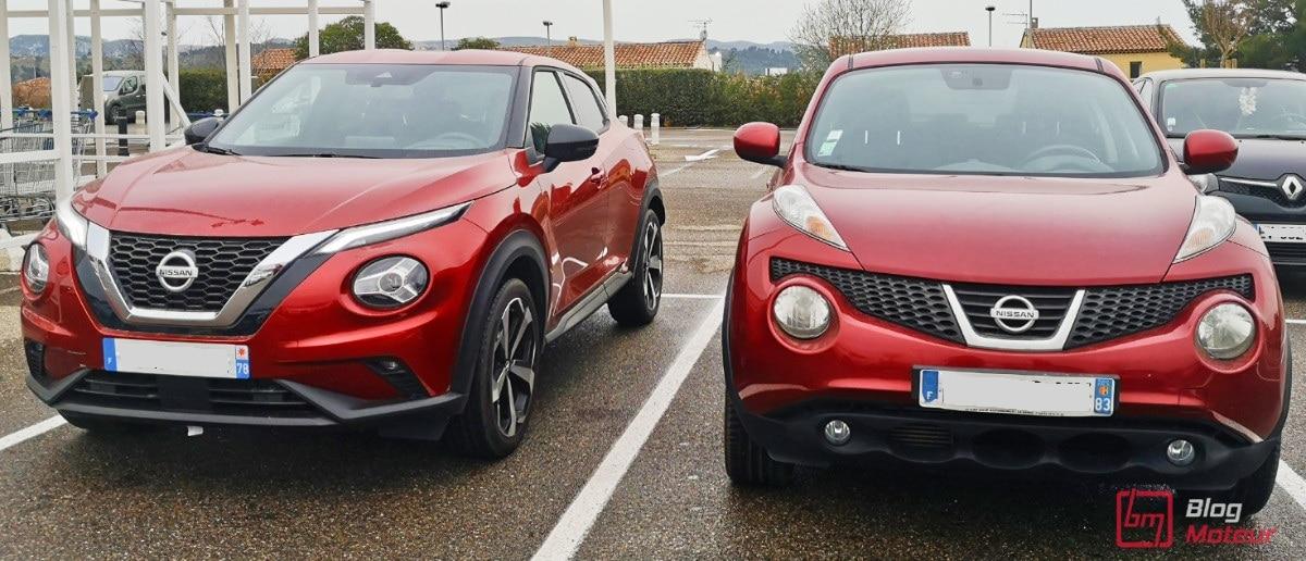 Nissan Juke avant et après devant